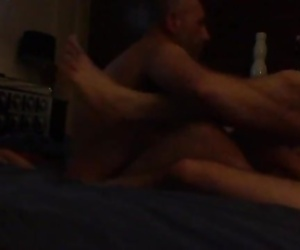 My stepbrother and i get our stepdad wired and make him fuck me.