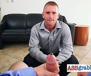 Gay hardcore sex in office after receiving the donuts of the day 5 min 720p