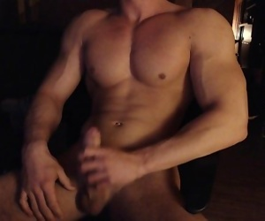Hungarian muscle boy cums again