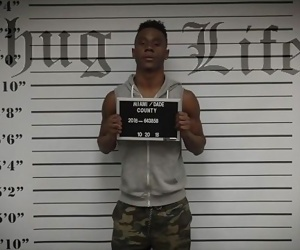 GAY PATROL - Crooked Cops Bust A Black Thug And Fuck Him Real Good