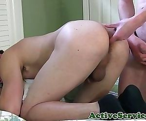 Horny straight cadet tries anal fucking 6 min 1080p