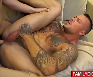 Family wrestling game ends with rought gay sex between stepdad and his stepson 7 min 720p