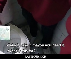 Amateur Latino Cruising Paid Cash To Suck Off Two Guys In Public Restroom POV 8 min 720p