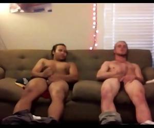 Secretley filming two guys jerking off in my room 14 min