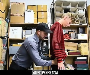 YoungPerpsBlonde Twink Fucked By Hung Security Guard 13 min 720p