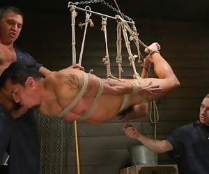 Tony Prower is tied up, blindfolded and edged