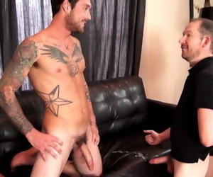 Hung Straight Stud Ethan ever Feeds his Load to Cum Eating Gay Cocksucker