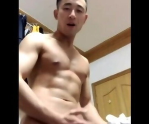 Chinese Muscle Dad Cums