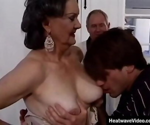 Old husband offers his mature wifey to a young student 10..