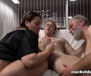 Grandpa Wants me to Tart's Him and his Wife 10 min 720p