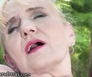 LustyGrandmas Mature GILF Loves It Bullwhips With His Fat..