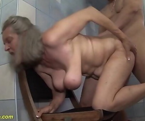 Ugly busty 83 years old mother rough nailed 12 min