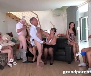Deviant Grandparents Orgy part 1 11 min 720p