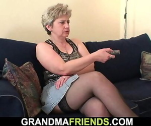 They share cock-hungry old grandma 6 min