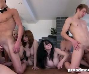 Spunk Craving Grannies Compilation 14 min 720p