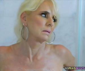 Caught spying grandma in the shower 5 min 720p