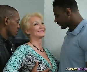 Grandma gets screwed by two thick black cocks 6 min 720p