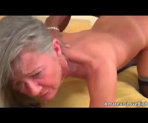 Grey Haired Granny Loves Big Black Cock