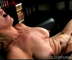 Beautiful big-titted old spunker nails her fat delicious..