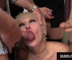 Awesome Grandma Dalny Marga Fucks 5 Horny Bastards and..