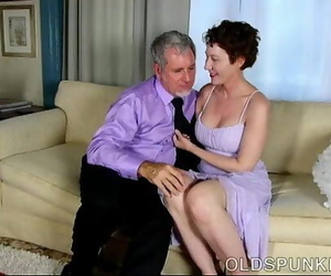 Fabulous old spunker is a super hot screw and loves facials