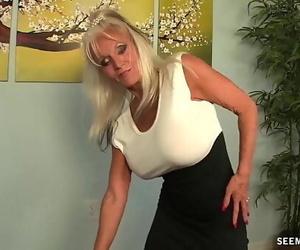 Granny POV Deep throat