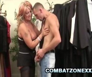 Mature Stunner Joanna Depp Sates her Pussy at the Clothing..