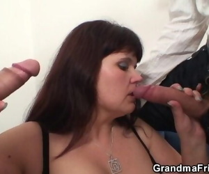 Her Huge old Beaver is Bitchy by 2 Cocks