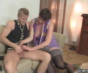 Old Grandma Spreads Legs for New Cock