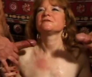 Mature Amateur Wife Anal Nail with Facial Shots