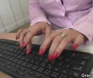 Nasty Office Bitch Fucks Employee