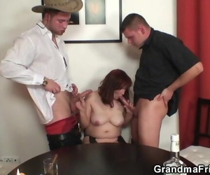 Strip Poker Leads to old Three way