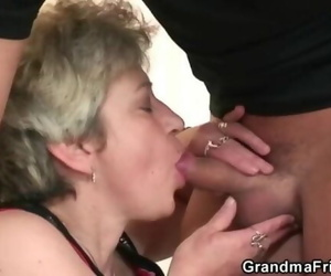 Naughty old Granny Takes two Sensitized at once