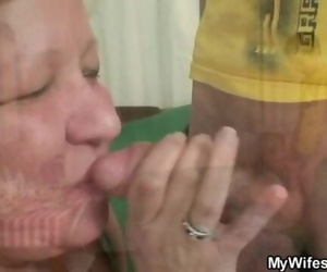 Huge Mother-in-law Rails his Cheating Cock