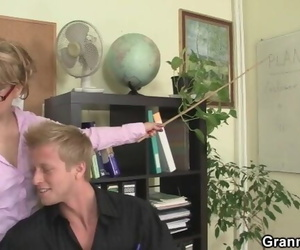 Guy Pounds Mature Office Woman on the Floor