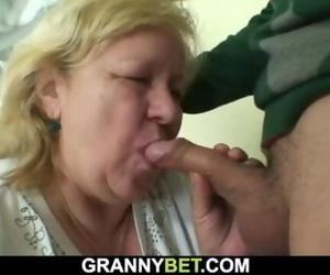 Pleasant Surprise for Huge old Grandma