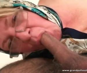 Thick Mature Blond Enjoys Hard-core Lovemaking