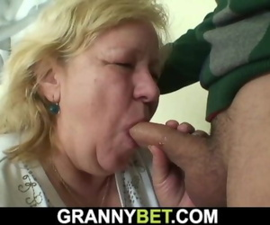 He Doggy-fucks Big 60 Years old Grandma