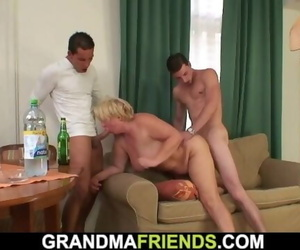 2 Friend Pick up Buxomy old Mature Blond