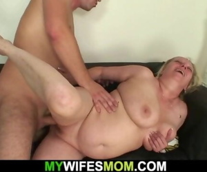 Wifey Leaves and Buxomy Mother-in-law Lures him into..
