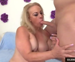 BTS with Granny Summer Huge-chested and Fucking