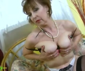 OldNannY Molten Nasty Grandma Inviting Striptease