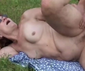 Old Pussies Looked for Flowers but found Thick Shaft