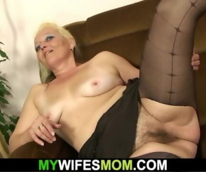 Furry Beaver Mother-in-law Gets Nude and Rides Dick
