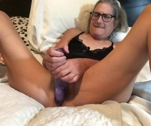 Warm Mummy Takes 9 Inch Dildo Mature Granny 60 Yr old