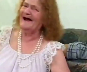 Toothless Granny Deep-throats Cock and Gets Bitchy