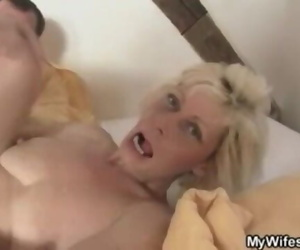 Light-haired Mom Entices her Son in Law