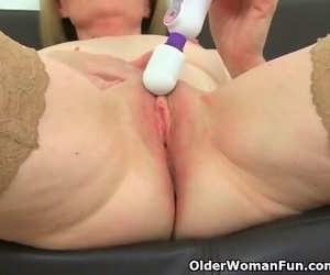 British Mummy Clare Juice Peels off off and Enjoys her..
