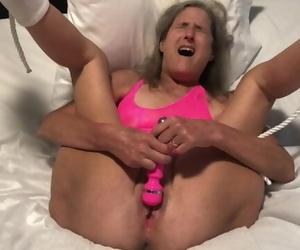 Hot Mummy Closeup Masturbation Multiple Orgasms Mature 60..
