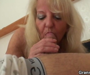70 Years old Skinny Granny in Pantyhose Riding